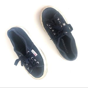 Superga JCOT Navy Lace Up Sneakers Size 29
